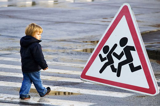 На дороге юный пешеход. Памятка водителю