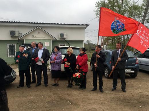 Открытие стелы герою Советского Союза Николаеву Н.И.